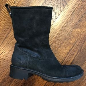 Born Black Suede Moto Boots